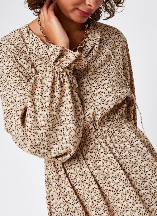 Vêtements Selected Femme Slfriyanka-Vienna Short Dress Marron vue face