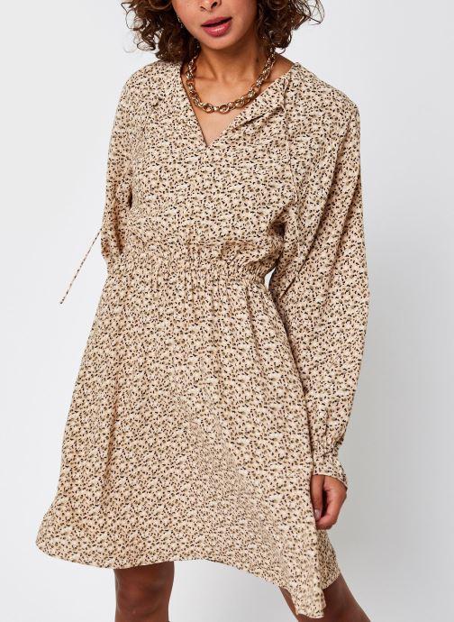 Vêtements Selected Femme Slfriyanka-Vienna Short Dress Marron vue droite