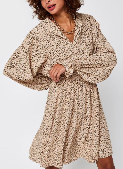 Vêtements Selected Femme Slfriyanka-Vienna Short Dress Marron vue détail/paire