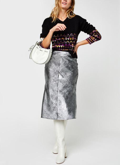 Kleding Selected Femme Slfaurelia Midi Skirt Zilver onder