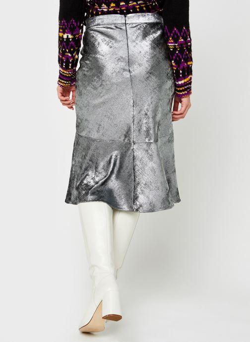 Kleding Selected Femme Slfaurelia Midi Skirt Zilver model
