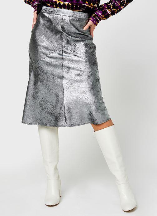 Kleding Selected Femme Slfaurelia Midi Skirt Zilver detail