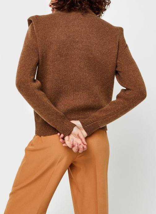 Kleding Selected Femme Slfliv Knit Rollneck Bruin model