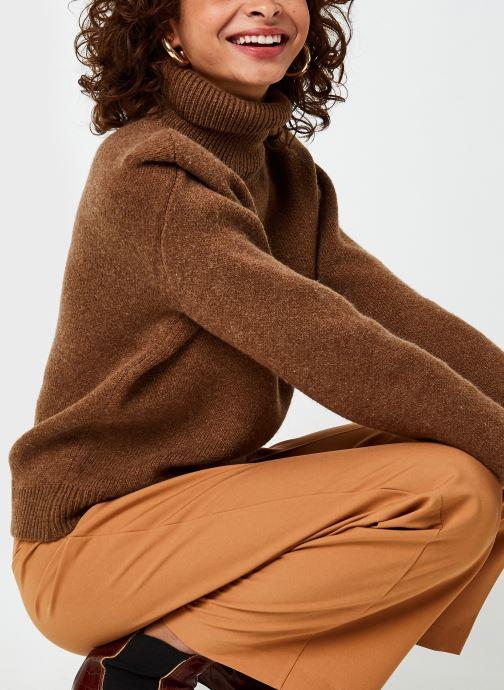 Kleding Selected Femme Slfliv Knit Rollneck Bruin detail