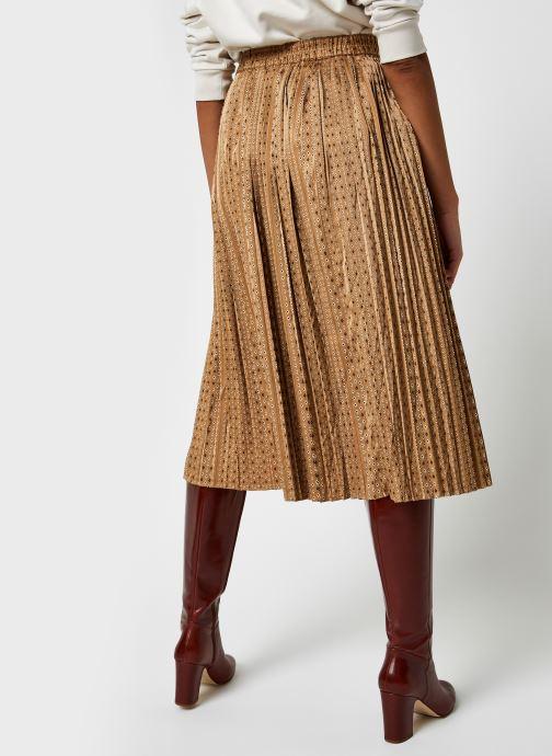 Kleding Selected Femme Slfmoni Midi Pleated Skirt Goud en brons model