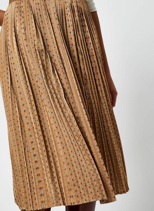 Kleding Selected Femme Slfmoni Midi Pleated Skirt Goud en brons voorkant