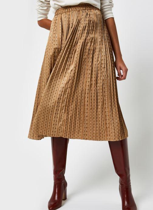 Kleding Selected Femme Slfmoni Midi Pleated Skirt Goud en brons detail