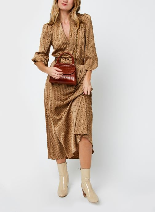 Vêtements Selected Femme Slfmoni-Florenta Ankle Dress Or et bronze vue bas / vue portée sac