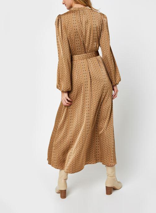 Vêtements Selected Femme Slfmoni-Florenta Ankle Dress Or et bronze vue portées chaussures