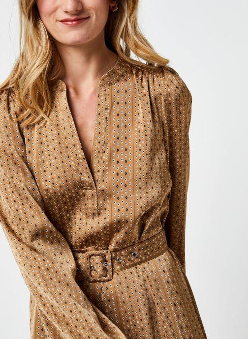 Vêtements Selected Femme Slfmoni-Florenta Ankle Dress Or et bronze vue face