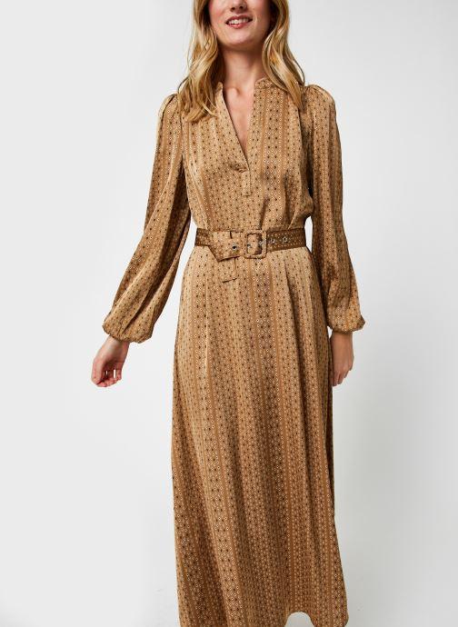 Vêtements Selected Femme Slfmoni-Florenta Ankle Dress Or et bronze vue droite
