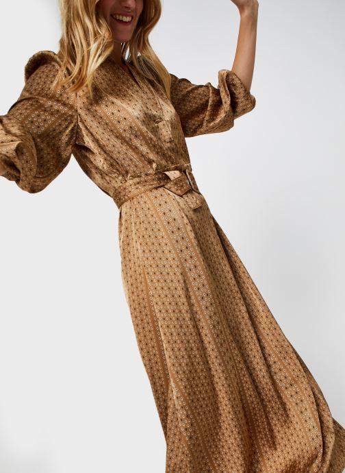 Vêtements Selected Femme Slfmoni-Florenta Ankle Dress Or et bronze vue détail/paire