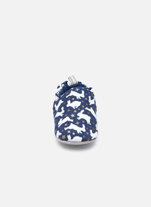 Pantuflas Poco Nido Rabbits Azul vista del modelo