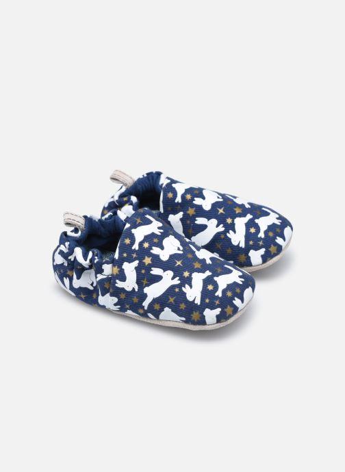 Pantuflas Poco Nido Rabbits Azul vista de detalle / par