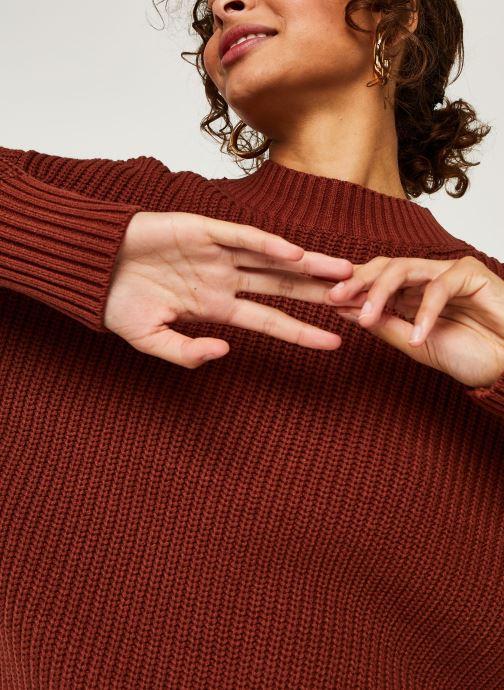 Kleding Selected Femme Slfbailey Knit O-Neck Bruin voorkant