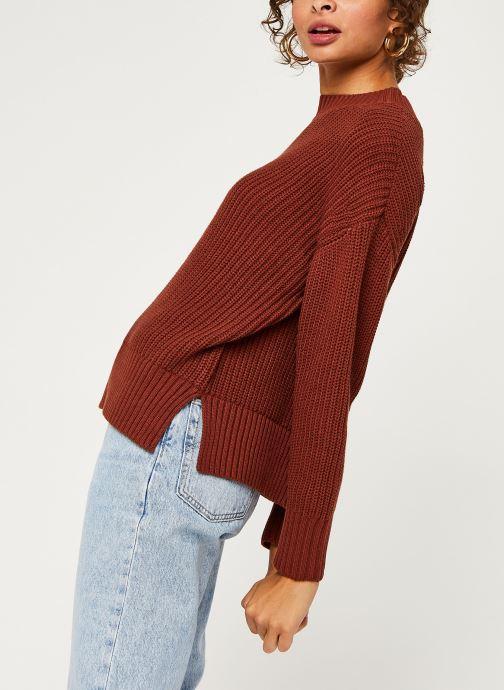 Kleding Selected Femme Slfbailey Knit O-Neck Bruin detail