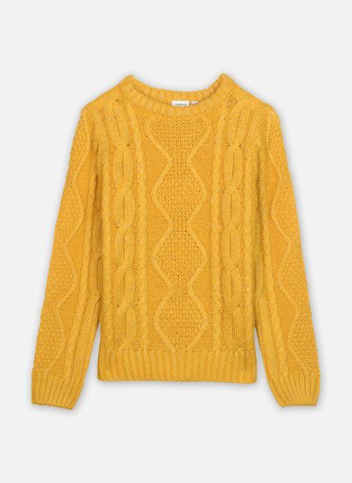 Vêtements Name it Nkflovenia Ls Knit Jaune vue détail/paire