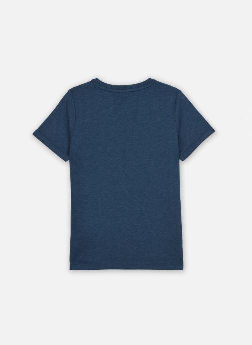 Vêtements Name it Nkmkarlo Ss Top Box Bleu vue portées chaussures
