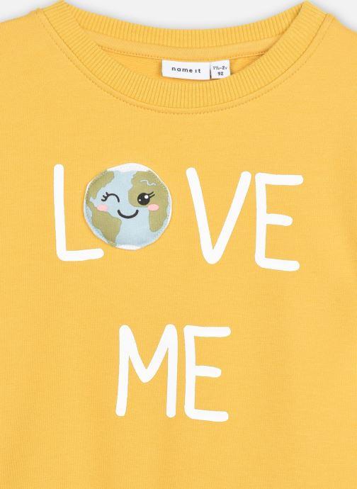 Vêtements Name it Nmflaplanet Sweat Unb Jaune vue face