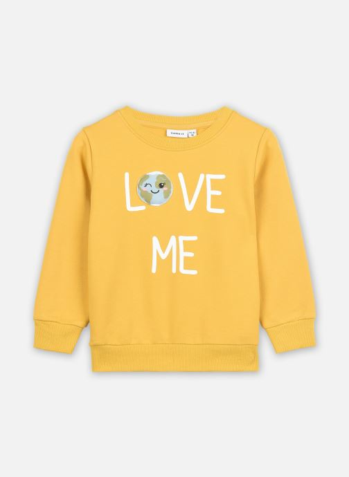 Vêtements Name it Nmflaplanet Sweat Unb Jaune vue détail/paire