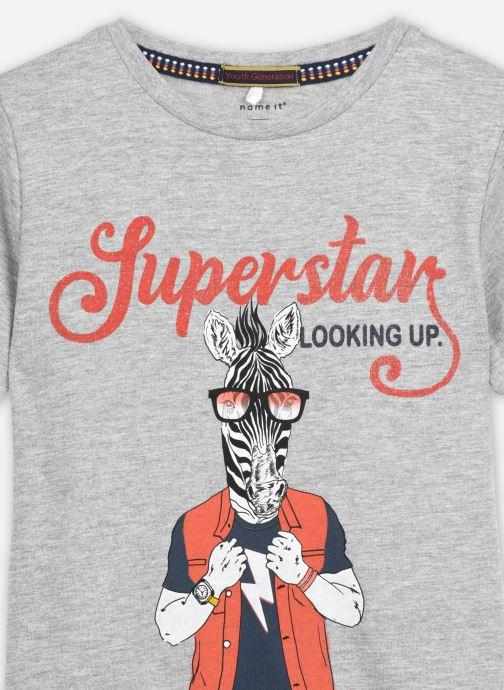 Vêtements Name it Nkmlsuper Ss Top Gris vue face