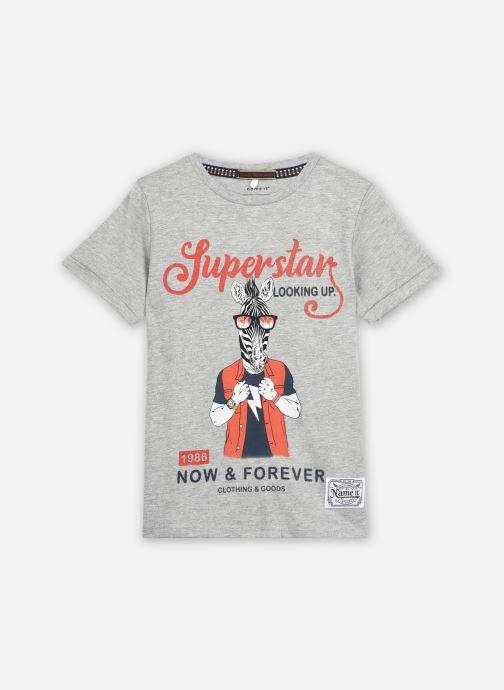 Vêtements Name it Nkmlsuper Ss Top Gris vue détail/paire