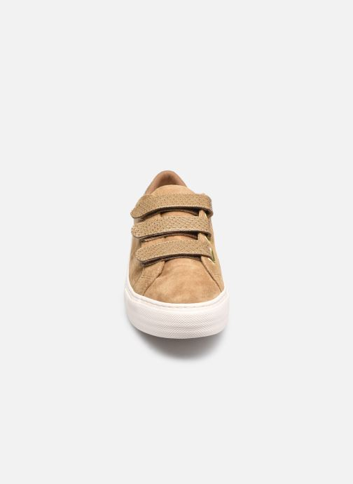 Baskets No Name Arcade Straps Goat Suede Nara Marron vue portées chaussures