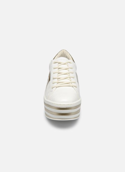 Baskets No Name Boost Sneaker Shine P.Croco Blanc vue portées chaussures