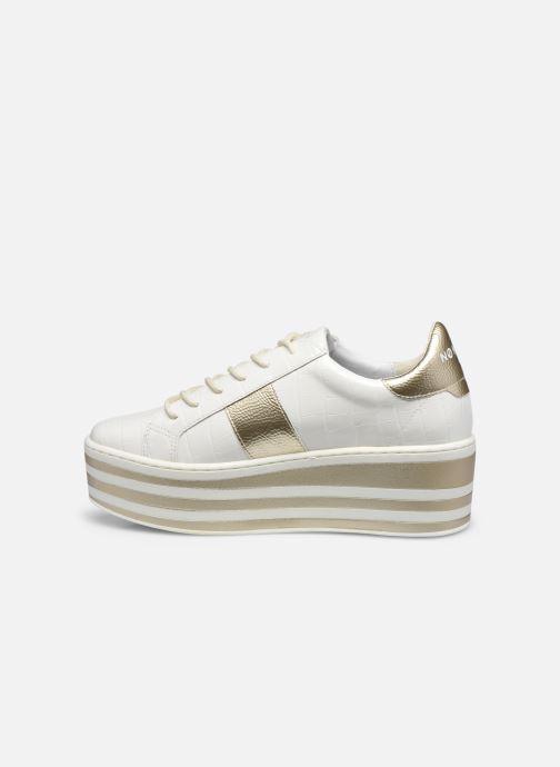 Baskets No Name Boost Sneaker Shine P.Croco Blanc vue face