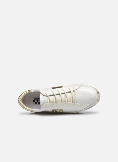 Baskets No Name Boost Sneaker Shine P.Croco Blanc vue gauche