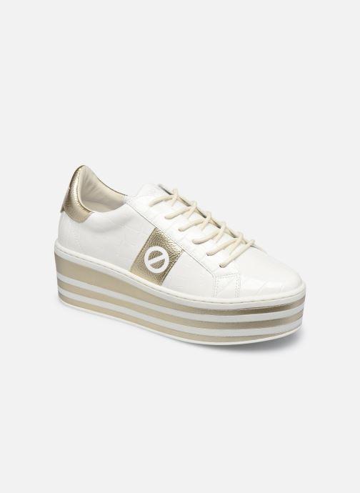 Baskets No Name Boost Sneaker Shine P.Croco Blanc vue détail/paire