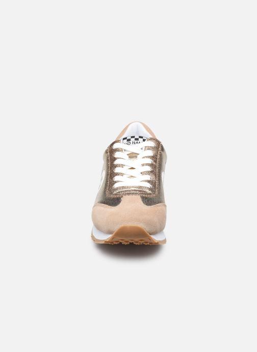 Baskets No Name City Run Jogger Suede/Glint Beige vue portées chaussures