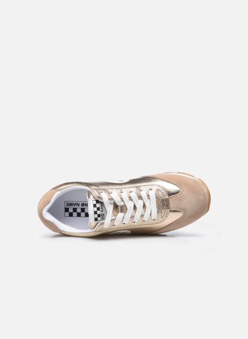 Baskets No Name City Run Jogger Suede/Glint Beige vue gauche