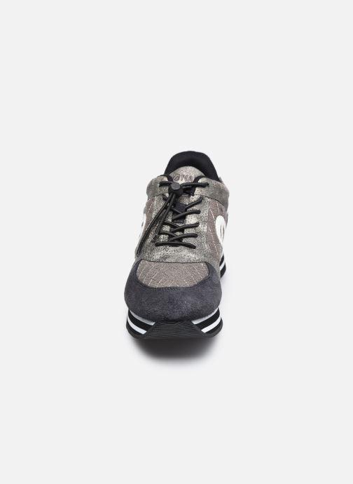 Baskets No Name Parko Jogger Suede/Padded Noir vue portées chaussures