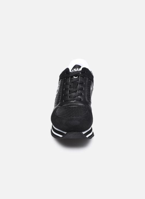 Baskets No Name Parko Jogger Nap.Perf/Suede Noir vue portées chaussures