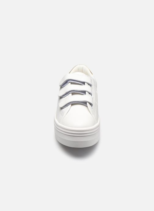 Baskets No Name Plato M Straps Nappa/Shadow Blanc vue portées chaussures