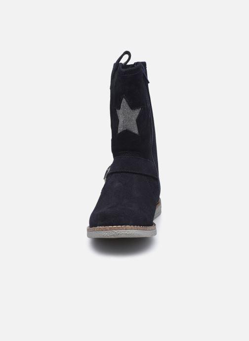 Bottes MTNG 48060 Bleu vue portées chaussures