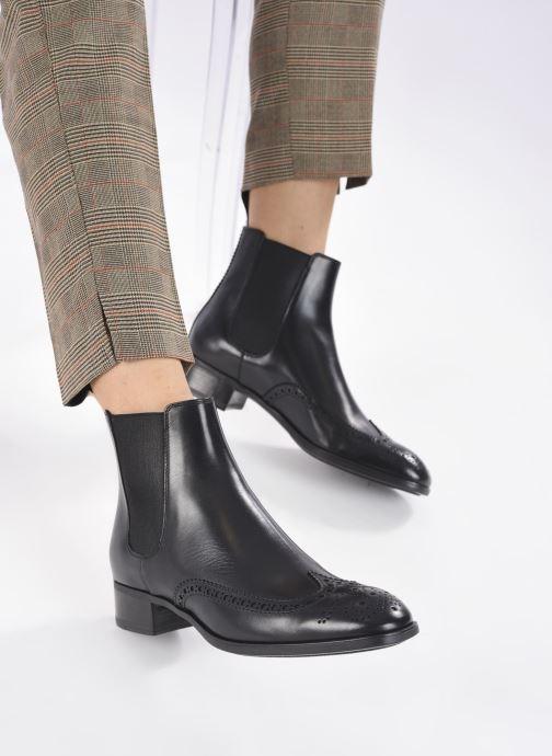 Stiefeletten & Boots Santoni ELOIDE schwarz ansicht von unten / tasche getragen