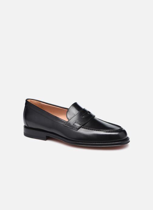 Loafers Santoni QUENTIN Sort detaljeret billede af skoene