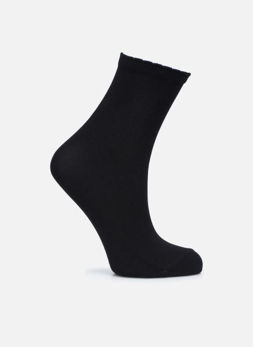 Chaussettes et collants Dim Socquettes Opaque Sensationnel 70D Noir vue portées chaussures