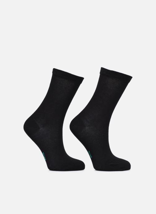 Socken & Strumpfhosen Dim GREEN COTON BIO MI CHAUSSETTE Lot de 2 schwarz schuhe getragen