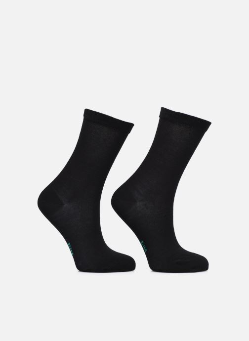 Chaussettes et collants Dim GREEN COTON BIO MI CHAUSSETTE Lot de 2 Noir vue portées chaussures