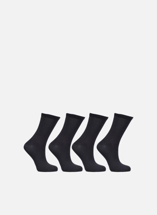Chaussettes et collants Dim Mi-Chaussette Skin 3+1 GTT Noir vue portées chaussures