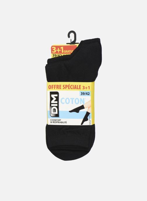 Chaussettes et collants Dim Mi-Chaussette Coton 3+1 GTT Noir vue détail/paire
