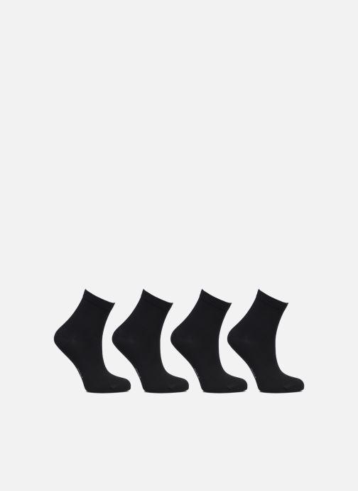Chaussettes et collants Dim Socquette Coton 3+1 GTT Noir vue portées chaussures