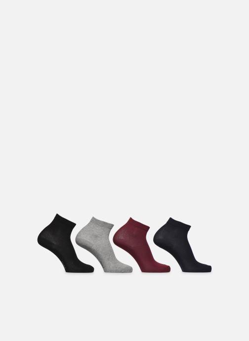 Chaussettes et collants Dim Socquette Coton 3+1 GTT Multicolore vue portées chaussures