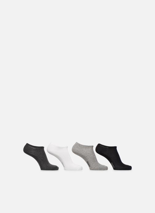 Chaussettes et collants Dim Socquettes courtes coton X4 Gris vue portées chaussures