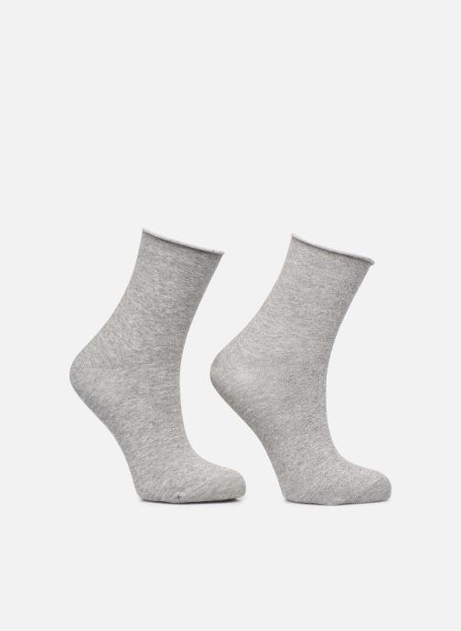 Chaussettes et collants Dim COTON STYLE Lurex SOCQUETTE Lot de 2 Gris vue portées chaussures