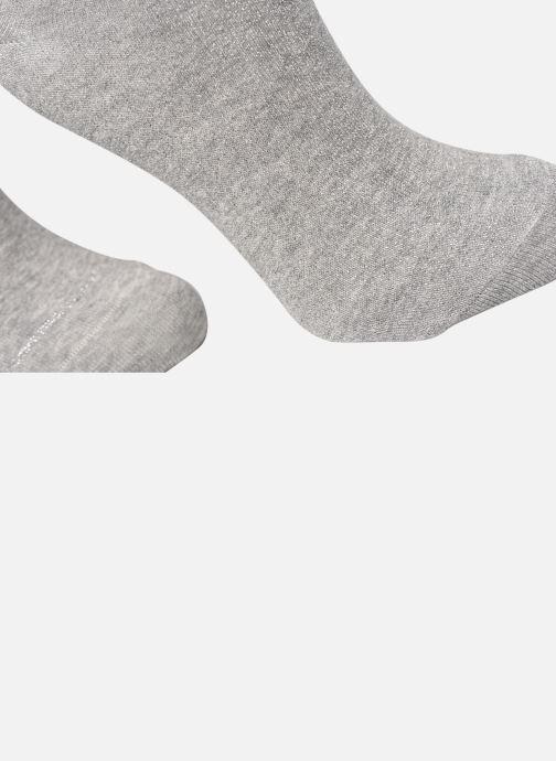 Chaussettes et collants Dim COTON STYLE Lurex SOCQUETTE Lot de 2 Gris vue face