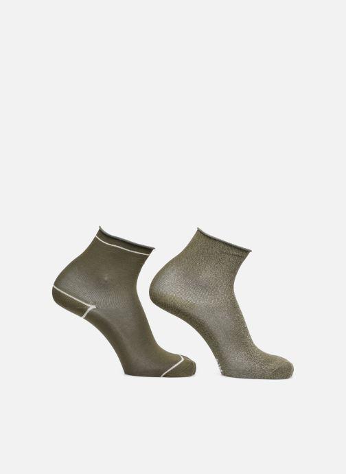 Sokken en panty's Dim COTON STYLE Lurex SOCQUETTE Lot de 2 Groen model